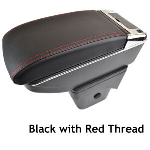 Car Armrest Cover Auto Center Console Red For Ford Focus 2 MK2 2005-2010 Box