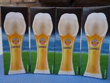 4 x Erdinger Weißbier, Fußballglas 0,5l, Europameisterschaft 2016, Gold Pokal