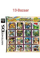 500 in 1 Games Card Cartridge Multicart Nintendo DS NDS NDSL 3DS 2DS NDSi + Case