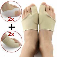 2Pcs Fabric Gel Toe Bunion Pad Protector& Hallux Valgus Corrector Straightener