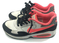 Nike Girls Air Max ST 653819-101 White Black Hyper Pink Running Shoes Size 3.5Y
