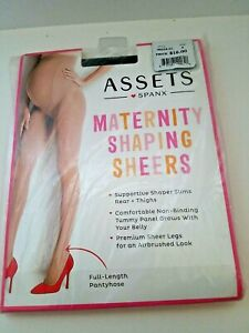Assets Spanx Maternity Shaping Sheers Pantyhose Black Sz A
