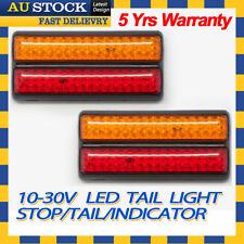 2x 12v 24v LED Light UTE Trailer Caravan Stop Tail Indicator Red Amber Color