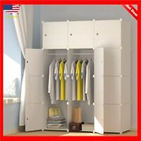 Wardrobe Closet Bedroom Clothes Organizer Storage Cabinet Wood Furniture Armoire
