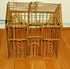 VINTAGE METAL WIRE THE HOUSE HANGING GARDEN ORNAMENT