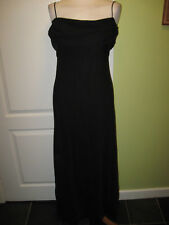 UK 8-10 ALYN PAIGE LADIES LONG BLACK CHIFFON EVENING DRESS WITH WATERFALL BACK