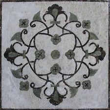 Handmade Fleur De Lys Art Stone Natural Marble Mural Decor Marble Mosaic GEO2586