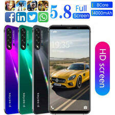 5.8'' FHD Fullscreen Smart Mobile Phone 4+64G Dual SIM Card Android 9 4000Mah