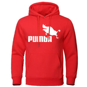 Hoodie Men Hooded Sweatshirt Pullover Outdoor Fashion Funny Pumba Streetwear Out