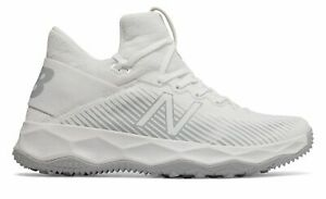New Balance Men's FreezeLX 2.0 Turf Lacrosse Shoes White with Silver