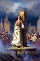 Joan of Arc Death at the Stake by Hermann Stilke. History Repro Canvas or Paper