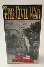 The Civil War 1861-1865 2 VHS VCR Tape Set Factory Sealed 1991
