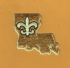NEW ORLEANS SAINTS 2 1/2 inch PATCH JERSEY HAT POLO SHIRT IRON ON Unsold Stock