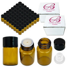 USA 96 Bottles 2ML Essential Oil Perfume Sample Glass Bottle with Reducers