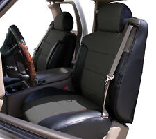 CHEVY SILVERADO 2000-02 BLACK/CHARCOAL VINYL CUSTOM MADE FRONT SEAT & 2ARM COVER
