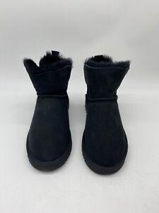 NEW - Fireside by Dearfoams Fold Down Bootie Slippers- Black - Women's US Size 9