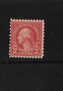 US Scott #579 mint never hinged 2c carmine Washington perf 11x10 1923 coil waste