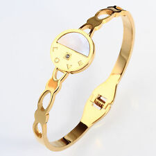 18k Gold Plated 316L Stainless Steel Shell Bangle