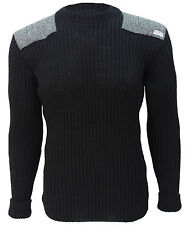 Crew Neck Sweater | Harris Tweed patches | 100% British Wool | # 14135