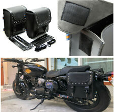 1Pair Motorcycle Retro Bags Saddle Bag Storage For Honda Suzuki Kawasaki Yamaha