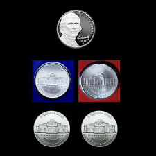 2011 P+D+S Jefferson Nickel Set ~ Mint Proof and PD in Mint Wrap and Bank Rolls