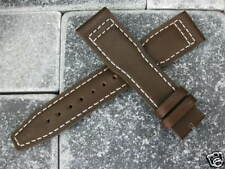 20mm TOP GUN Brown Calf LEATHER STRAP Watch Band White Stitch IWC PILOT 20 mm x1