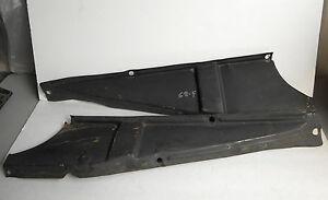 1967-1968 PONTIAC FIREBIRD OEM REAR BACK SEAT SIDE PANEL BRACKETS BRACES PAIR