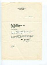 Frederick Thomas Bedford Penick & Ford President Signed Autograph Letter Tsl