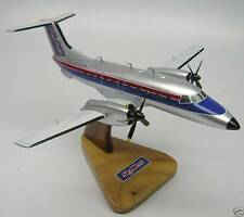 EMB-120 Embraer Brasilia Skywest Airplane Desktop Kiln Dry Wood Model Small New