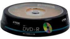 100 pack TDK Gold Series DVD+R 4.7Gb 16X Blank Recordable Discs Spindle