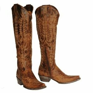Old Gringo Ladies Mayra Brass Brown Over-the-Knee Tall Boots L1213-4