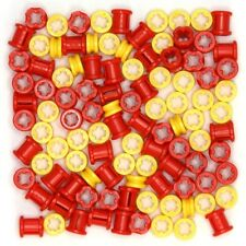 Lego Technic - Bushes - 100 Parts - Yellow Red - Half and Full Size - NEW