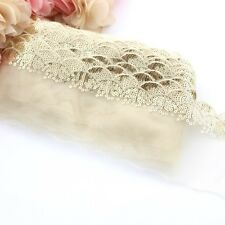 1 Meter of gold lace sequin trim for clothing and crafts