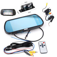 "7"" TFT LCD Wireless Monitor Mirror Night Vision Car Rear View Parking Camera"