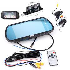 "7"" TFT LCD Wireless Monitor Mirror Night Vision Car Rear View Parking Camera NE$"