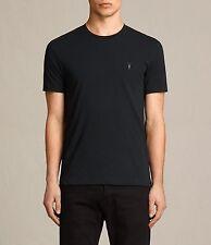 All Saints Black Tonic Crew Embroidered Logo Short Sleeve T-Shirt  Xsmall XS