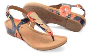 Comfortiva Summit Yellow Sunburst Thong Wedge Sandal Women's sizes 6-10/NEW!!!