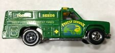 1986 Hot Wheels Workhorses Green Rescue Ranger Truck Error Rear Wheel Variation