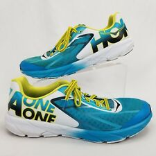 Hoka One One Mens 11 Running Shoes Tracer Athletic Cyan Yellow Black 1012050  S1