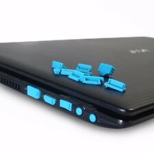 13x blau Anti-Staub Wasserschutz Silikon Stecker Abdeckung Laptop