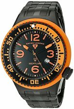 Swiss Legend Neptune Black Stainless Steel Men's Quartz Watch 21819P-BB-11-OBS