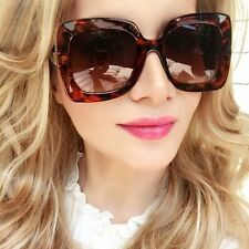 Big Large Square Havana Brown Tortoise Brown Lens OMG Daisy Hot Sunglasses 6027