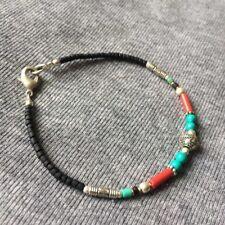 BL-03 Nepalese Handmade Ethnic Turquoise Coral Black Beads Bracelets Bangles