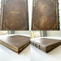 Antique Late 1800's Journal Louisville KY History Cave Cemetary