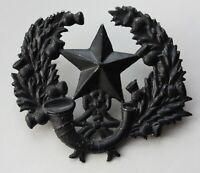 British Army, The Cameronians Cap Badge. Scottish Rifles, Blackend.