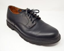Rockport Mens 10W Oxford Dress Shoes Black Genuine Leather Lace Up