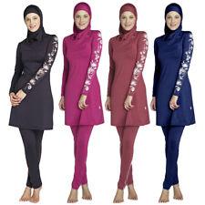 Muslim Women Modest Swimwear Full Cover Swimsuit Arab Burkini Islam Swim Costume