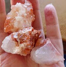 "3 Strawberry Calcite crystals - Mexico - 1"" +   Reiki, Metaphysical, Centering"