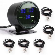 Car Motorcycle Air Pressure Gauge PSI Meter w/ 5pcs 1/8NPT Electrical Sensors