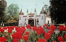 London Ontario~Storybook Gardens~Castle Entrance & Tulips in Bloom~1970s PC